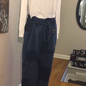 Polo Paper Bag Trousers W/Rope Belt